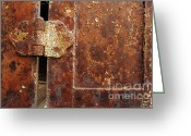 Photography Greeting Cards - Rusted Hinge Greeting Card by Fran Riley