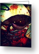 Dana Oliver Greeting Cards - Rusted Seat Greeting Card by Dana  Oliver