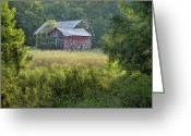 Shed Greeting Cards - Rustic Barn Greeting Card by Tom Mc Nemar