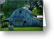 "\\\\\\\""boone County Photo Greeting Cards - Rustic Boone County Barn Greeting Card by Cricket Hackmann"
