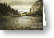 Winter Photos Greeting Cards - Rustic Bow River Greeting Card by Andrea Hazel Ihlefeld