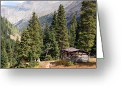 Horizontally Greeting Cards - Rustic Cabin Greeting Card by Benjamin Mitchell