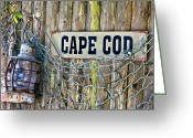 Oil Lamp Greeting Cards - Rustic Cape Cod Greeting Card by Bill  Wakeley