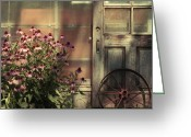 Country Prints Greeting Cards - Rustic corner Greeting Card by Aimelle