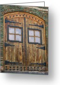 Door Hinges Greeting Cards - Rustic Door Greeting Card by Paul Burdick
