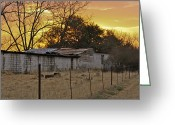 Old Out Houses Greeting Cards - Rustic Farm Greeting Card by Kirsten Mumford