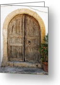Crete Greeting Cards - Rustic gates Greeting Card by Paul Cowan