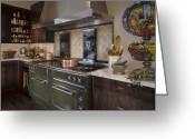 Cupboards Greeting Cards - Rustic Kitchen Greeting Card by Robert Pisano