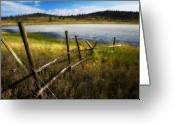 Kamloops Greeting Cards - Rustic Greeting Card by Peter Olsen