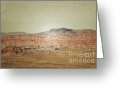 Autumn Photographs Greeting Cards - Rustic Red Rock Greeting Card by Andrea Hazel Ihlefeld