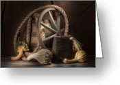 Antique Wagon Greeting Cards - Rustic Still Life Greeting Card by Tom Mc Nemar