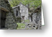 Stone Chimney Greeting Cards - Rustici Greeting Card by Joana Kruse
