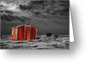 Rust Greeting Cards - Rusting Away Greeting Card by Meirion Matthias