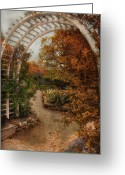 Arbor Greeting Cards - Rusting Garden Greeting Card by Robin-Lee Vieira