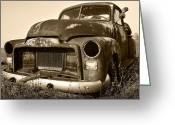 Barn Art Digital Art Greeting Cards - Rusty But Trusty Old GMC Pickup Greeting Card by Gordon Dean II