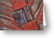 Door County Landmark Greeting Cards - Rusty Dusty and Musty Greeting Card by Kathy Clark