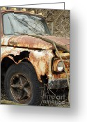 Ford Truck Greeting Cards - Rusty Ford Greeting Card by Luke Moore