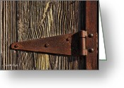 Hinge Greeting Cards - Rusty Hinge Greeting Card by Karen Slagle