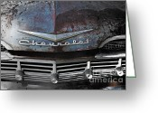 49 Chevy Greeting Cards - Rusty Impala Greeting Card by Deborah  Montana