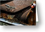 Pitted Greeting Cards - Rusty Impe Greeting Card by DigiArt Diaries by Vicky Browning