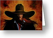 Cowgirl Greeting Cards - Rusty Greeting Card by Lance Headlee