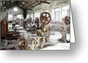Nut Greeting Cards - Rusty Machinery Greeting Card by Carlos Caetano