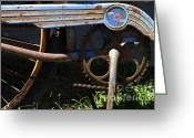 Old Bike Greeting Cards - Rusty Old Bicycle . 7D15946 Greeting Card by Wingsdomain Art and Photography