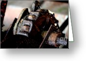 Farm Machine Greeting Cards - Rusty Old Farm Equipment 3 Greeting Card by Wingsdomain Art and Photography