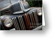 Old Trucks  Greeting Cards - Rusty Old Ford Truck - IMG4413 Greeting Card by Wingsdomain Art and Photography