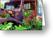 Forgotten Greeting Cards - Rusty Steel Greeting Card by Debbi Granruth