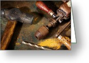 Household Greeting Cards - Rusty Tools Greeting Card by Carlos Caetano