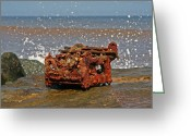 Mundesley Greeting Cards - Rusty typewriter Greeting Card by Camera Rustica Bill Kerr