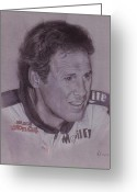 Photorealism Greeting Cards - Rusty Wallace Greeting Card by Nanybel Salazar