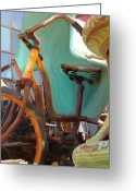 Collectibles Greeting Cards - Rusty Wheels Greeting Card by Patti Siehien