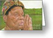 Elderly Painting Greeting Cards - Ruth II Greeting Card by Curtis James