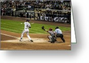Umpire Greeting Cards - Ryan Braun  Greeting Card by CJ Schmit
