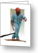 World Series Champion Greeting Cards - Ryan Howard Greeting Card by Scott Weigner