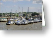 Buildings Greeting Cards - Ryde Harbour Greeting Card by Rod Johnson