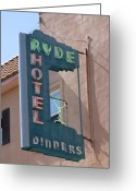Sacramento River Greeting Cards - Ryde Hotel Sign Greeting Card by Troy Montemayor