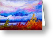 Alaska Greeting Cards - Rythmn Of The Arctic Greeting Card by Marion Rose