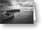 Sand And Sea Greeting Cards - S-Curve Reef at Swamis  Greeting Card by Larry Marshall