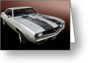 Camaro Greeting Cards - S S Camaro Greeting Card by Bill Dutting
