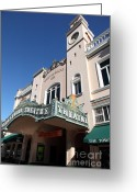 Theatres Greeting Cards - Sabastiani Theatre - Downtown Sonoma California - 5D19276 Greeting Card by Wingsdomain Art and Photography