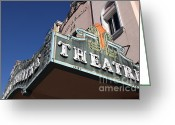 Theatres Greeting Cards - Sabastiani Theatre - Downtown Sonoma California - 5D19278 Greeting Card by Wingsdomain Art and Photography