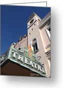 Theatres Greeting Cards - Sabastiani Theatre - Downtown Sonoma California - 5D19279 Greeting Card by Wingsdomain Art and Photography