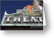 Theatres Greeting Cards - Sabastiani Theatre - Downtown Sonoma California - 5D19280 Greeting Card by Wingsdomain Art and Photography