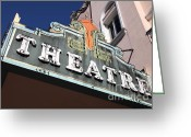 Theatres Greeting Cards - Sabastiani Theatre - Downtown Sonoma California - 5D19281 Greeting Card by Wingsdomain Art and Photography
