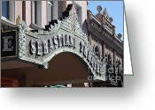 Theatres Greeting Cards - Sabastiani Theatre - Downtown Sonoma California - 5D19288 Greeting Card by Wingsdomain Art and Photography