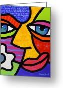 Abstract Bright Color Greeting Cards - Sabrina Starr Greeting Card by Steven Scott