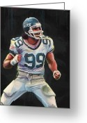 Ny Jets Greeting Cards - Sackdancer Greeting Card by Duane Tomaszewski